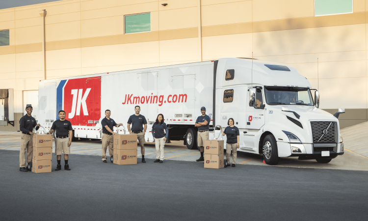 JK Moving truck with employees