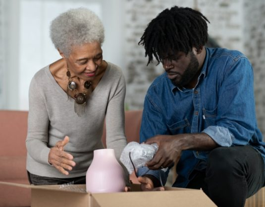 Helping elderly parents downsize their home
